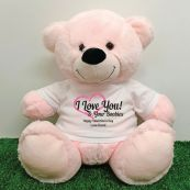 Valentines Bear Love Your Naughty Bits - 40cm Light Pink