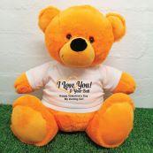 Valentines Bear Love Your Naughty Bits - 40cm Orange