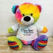 Valentines Bear Love Your Naughty Bits - 40cm Rainbow