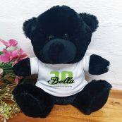 30th Birthday Teddy Bear Black Plush