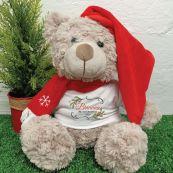 1st Christmas Bear Shaggy Brown
