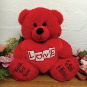 Nana Love Bear With Red Heart 30cm