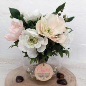 80th Birthday Anemone Berry Flower Mix in Vase - Pink