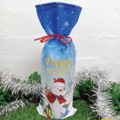 Pop Christmas Wine Bottle Cover - Snowman