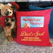 Dad Red Christmas Pocket Pillow Cover