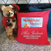 Teacher Christmas Pocket Pillow Cover