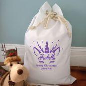 Personalised Christmas Santa Sack 70 x 50 - Glitter Unicorn