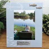 Personalised 100th Birthday Fishing Frame 6x4