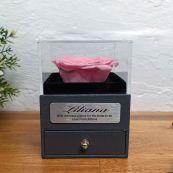 Eternal Pink Rose Bride Jewellery Gift Box