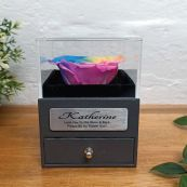 Everlasting Rainbow Rose Flower Girl Jewellery Gift Box