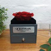 Eternal Red Rose Flower Girl Jewellery Gift Box