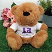 13th Teddy Bear Brown Personalised Plush