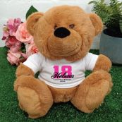 18th Teddy Bear Brown Personalised Plush