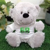 60th Teddy Bear Grey Personalised Plush