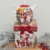 Santa Tea for One in Christmas Gift Box