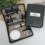 Personalised Mens Black Grooming Kit
