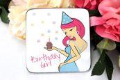 Birthday Girl Drinks Coaster