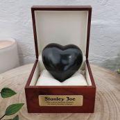 Baby Memorial keepsake Urn For Ashes Black Heart