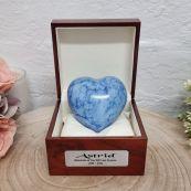 Pet Memorial keepsake Heart Urn For Ashes Blue