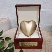 Memorial keepsake Urn For Ashes Gold Brass Heart