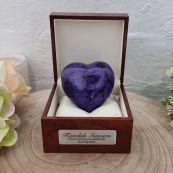 Baby Memorial keepsake Urn For Ashes Purple Heart