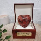 Baby Memorial keepsake Wood Heart Urn For Ashes