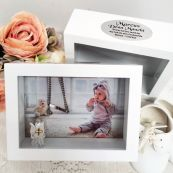 Baptism Keepsake Shadow Box Photo Frame 5x7