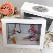 Baby Keepsake Shadow Box Photo Frame 5x7