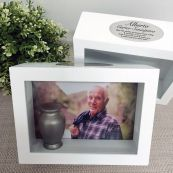 Memorial Keepsake Shadow Box Photo Frame & Urn