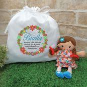 Mini Rag Doll  Matilda with 1st Birthday Play Sack