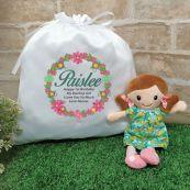 Mini Rag Doll  Nellie with 1st Birthday Play Sack