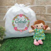 Mini Rag Doll  Nellie with Play Sack