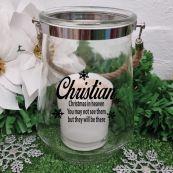 Christmas In Heaven Hurricane Vase Candle Holder