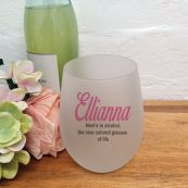 Personalised Stemless Wine Glass 500ml