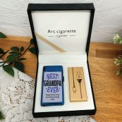 Best Grandpa Personalised Lighter USB Rechargeable Blue