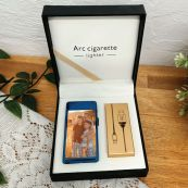 Personalised Photo Lighter USB Rechargeable Blue