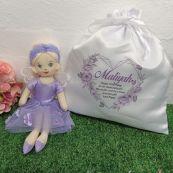 Snowdrop Fairy Doll with 1st Birthday Play Sack