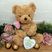 Personalised Bear with Rose and Heart Tin