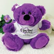 Love Your Naughty Bits Valentines Bear - Purple