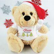 Christmas Personalised Plush Bear - Trees