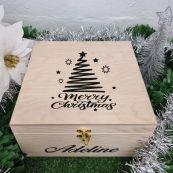 Personalised Christmas Box - Squiggle Tree