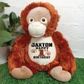 Birthday Orangutan Cubbie Bear Plush