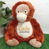 Personalised Orangutan Cubbie Bear Plush