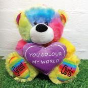 You Colour My World Rainbow Bear 25cm
