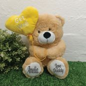 Personalised Get Well Bear With Balloon