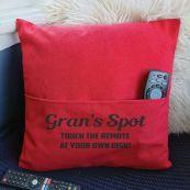 Grandma Personalised Pocket Pillow Cover Red