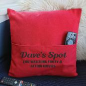 Personalised Pocket Pillow Cover Red