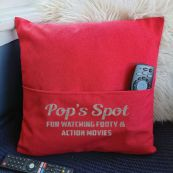 Pop Personalised Pocket Pillow Cover Red