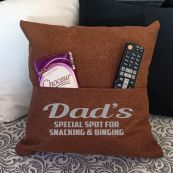 Dad Personalised Tan Pocket Pillow Cover