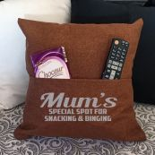Mum Personalised Tan Pocket Pillow Cover